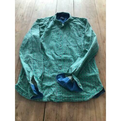 Scotch soda used look blouse overhemd groen patroon m valt s