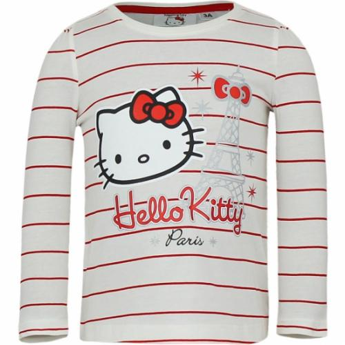 T shirts en poloshirts Hello Kitty Hello Kitty t shirt wit met rood